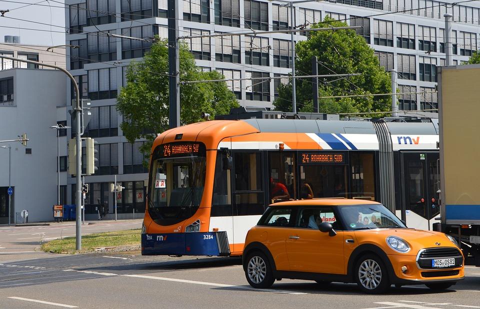 testy na prawo jazdy tramwaj na skrzyżowaniu