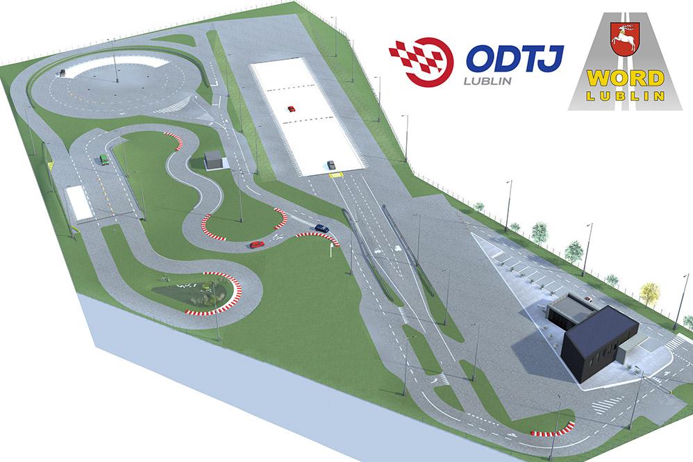 Ośrodek Doskonalenia Techniki Jazdy w Lublinie. Plan Ośrodka