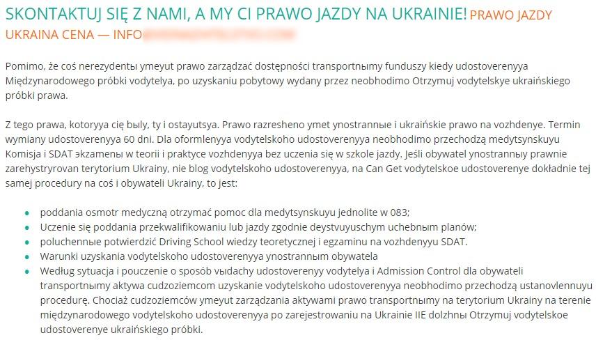 prawo jazdy ukraina
