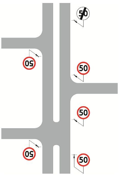 Zakres obowiązywania znaków zakazu na drodze dwujezdniowej