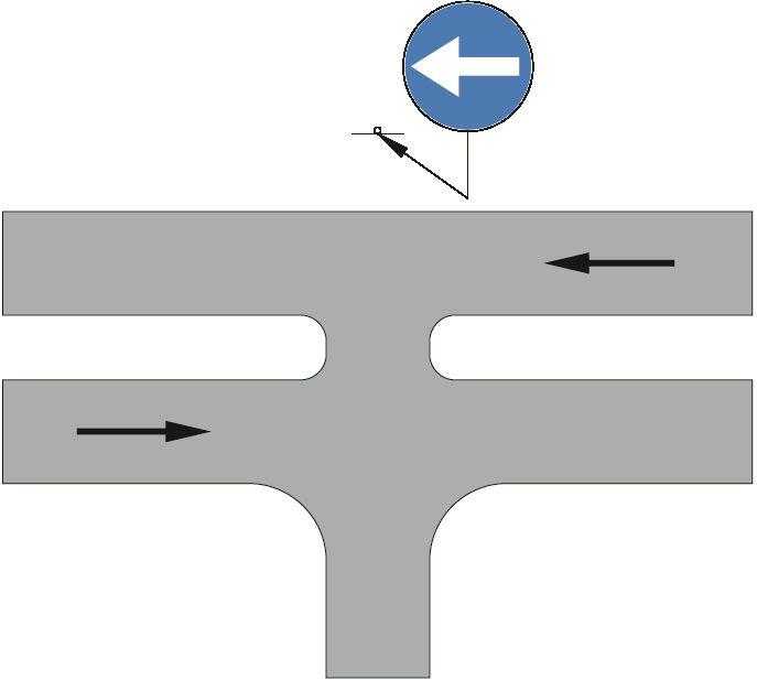 """Zastosowanie znaku C-3 na skrzyżowaniu typu """"T"""""""