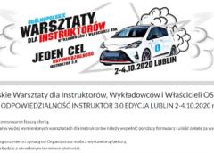 Kiedy i gdzie? Ogólnopolskie Warsztaty dla Instruktorów Wykładowców i Właścicieli OSK